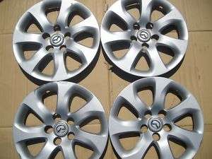 2010 2011 FOUR 16 MAZDA 3 HUB CAP WHEEL COVERS