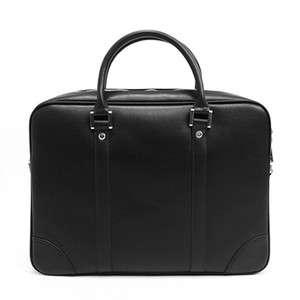 youstars Mens Leather Briefcase Messenger Bag BLACK(337