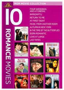 MGM Movie Collection 10 Romance Movies DVD, 2011, 5 Disc Set