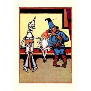 Tin Man, Dorothy and Scarecrow 12X18 Art Paper with Black