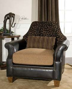 Uttermost Aarika Armchair Brown & Black Animal Print (792977230435