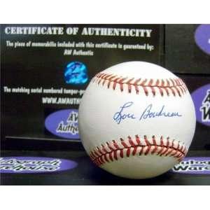 Lou Boudreau Autographed/Hand Signed MLB Baseball Sports