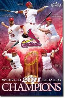 CARDINALS ~ 22x34 Wall Poster ~ 2011 World Series Champions ~ New
