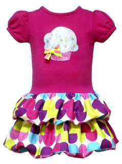 New Baby Girls Pink Birthday Cupcake Dress sz 24 months