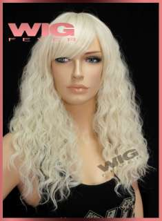 Fashion Long Curly Light Blonde Cosplay Wig 2407