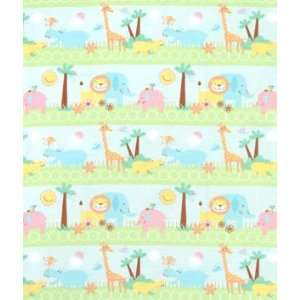 Multi Happy Zoo Flannel Fabric: Arts, Crafts & Sewing