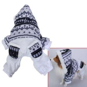 Pet Dog Hoodie Winter Jumpsuit Coat Jacket   Size S: Pet Supplies