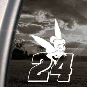 JEFF GORDON #24 WITH TINKERBELL Decal Car Sticker