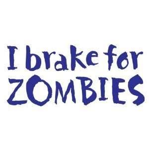Zombies   6 BLUE Vinyl Decal Window Sticker by Ikon Sign Automotive