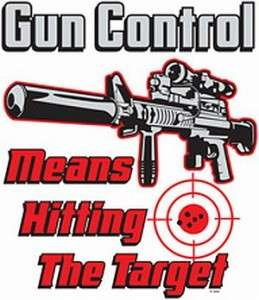 GUN CONTROL HITTING TARGET 2ND AMENDMENT T SHIRT TEE