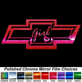 CHEVY BOWTIE 4 inch Decals Window Stickers   Any Color