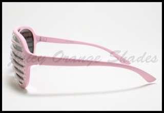 HIP HOP STAR Bling Bling SHUTTER MIRROR Lens CELEBRITY Sunglasses PINK