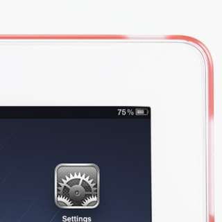 Rubberized Pink Back Snap On Hard Case Cover for iPad2 work with Smart
