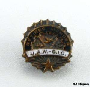 UNITED AUTO WORKERS   UAW Union Retired Member PIN