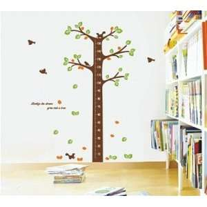 Large Tree Height Measurement Growth Chart with Quote Wall