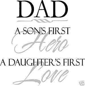 Wall words letters Father Dad Son Daughter Hero Love