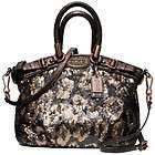358 NWT Coach Madison Ocelot Bronze Sequins Mini Sophia Crossbody