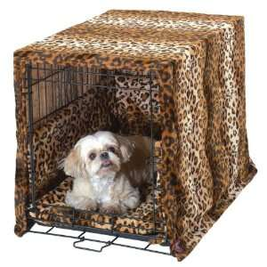 Pet Dreams® 3 pc Leopard Dog Crate Cover Set (XS XXL)