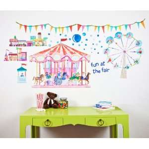 Oopsy daisy Carousel Peel and Place Childrens Wall Decals