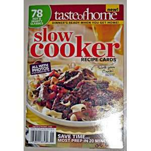 com Taste of Home Slow Cooker Recipe Cards Catherine Cassidy Books