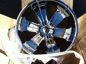 22x9.5 VELOCITY VW 166 22 INCH CHROME WHEELS RIMS