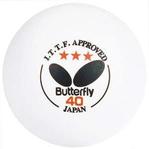 White Butterfly 6 Pack ITTF Table Tennis Balls Sports
