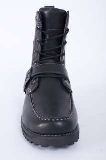 CADILLAC LEVEL BLACK FAUX LEATHER COMBAT WINTER BOOTS SHOES SIZE 11
