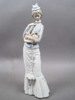 Lady A Walk with the Dog Porcelain Figurine #4893 Retired