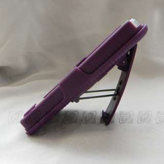 Hard Case Cover + Belt Clip Holster w/ Stand For iPhone 4S 4G
