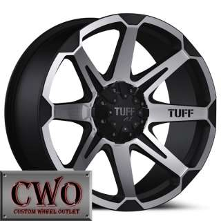 20 Black Tuff T 05 Wheels Rims 6x139.7 6 Lug Tundra Titan Chevy GMC