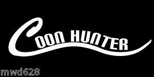 COON HUNTER DECAL STICKER WINDOW HUNTING