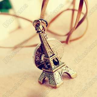 Fashion Vintage Eiffel Tower Coin Pendant Necklace 5010