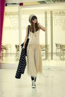 Slim Fit Elegant Ruffle Sleeveless Full Length Dress #5133