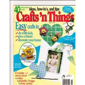 Crafts N Things August 1998 Books