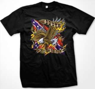 South Will Rise Again Confederate Flag Redneck T Shirt