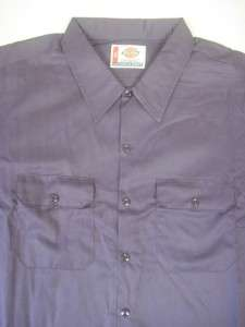 NWT NEW DICKIES SS WS574 WORK SHIRT PURPLE 5X 5XL