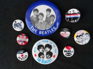 BEATLES BAND MUSIC PINS PINBACKS BUTTONS JOHN LENNON RINGO STARR
