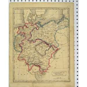 Map Prussia C1880 Germany Colour Borders Hall Print: Home