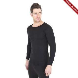 Free PnP) FLOSO Mens Thermal Underwear Vest Top Shirt