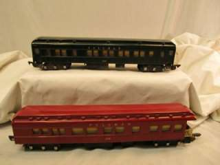 AMERICAN FLYER TRAINS CAR PULLMAN PASSENGER 654 RED & GREEN 652