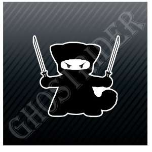 Ninja Cat Kitty Car Trucks Sticker Decal