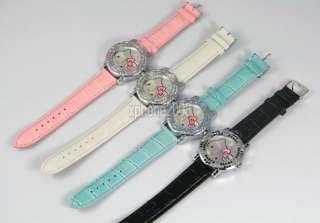 New Fashion crystal lady quartz flower style HelloKitty Alloy Watch
