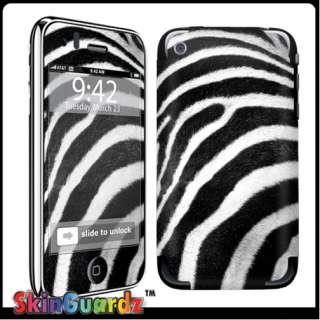 Black White Zebra Vinyl Case Decal Skin To Cover Your Apple IPHONE 3G