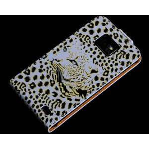 Leopard Flip Leather Hard Case Cover for Samsung Galaxy S2 i9100 SII S