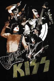 KISS Band Photo Danger Rock Band Adult T Shirt Tee