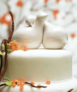 Contemporary  Love Birds  Cake Topper / Centerpiece   5.5 Long, 4