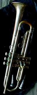 old Ambassador Olds TRUMPET vintage Musical Instrument Band Horn