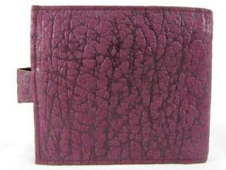 Violet Purple Elephant Skin Leather Bi Fold Mens Clutch Wallet