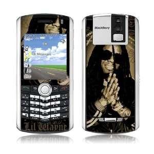 MS LILW10065 Blackberry Pearl  8100  Lil Wayne  Gold Skin Electronics
