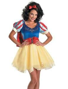 Women Disney SNOW WHITE dress gown costume Size Med 8 10 Large 12 14